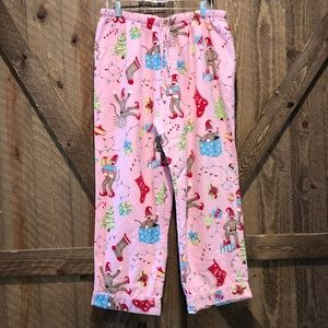 Nick & Nora XL Sock Monkeys Christmas Flannel Pant